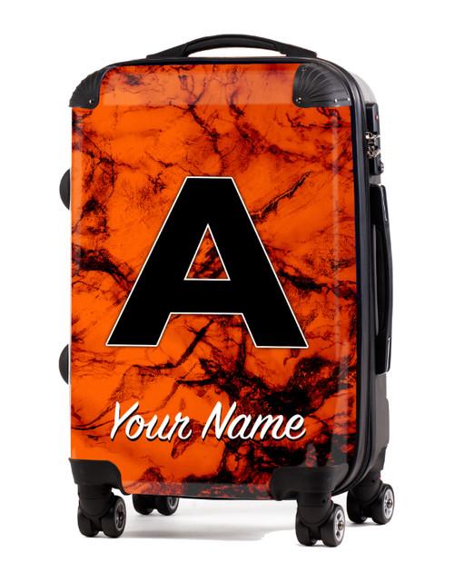 """Orange Marble - 20"""" Carry-On Luggage"""