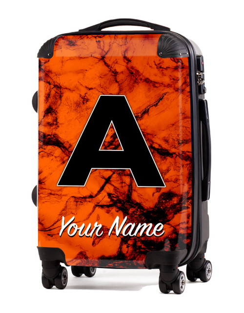 "Orange Marble - 20"" Carry-On Luggage"