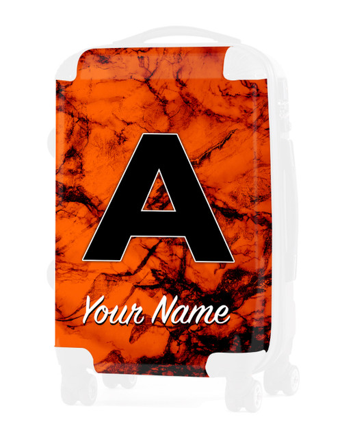 """Orange Marble - Graphic Insert for 20"""" Carry-on Luggage"""
