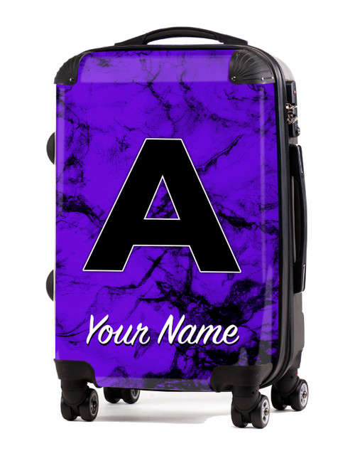 "Purple Marble - 20"" Carry-On Luggage"