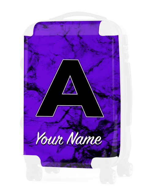 """Purple Marble - Graphic Insert for 20"""" Carry-on Luggage"""