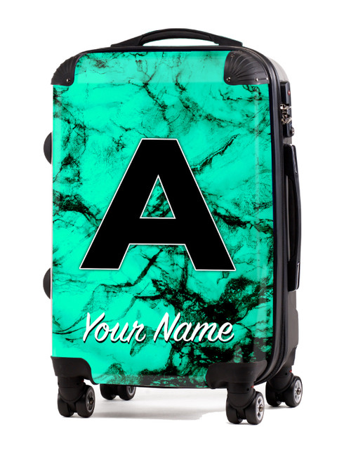 "Teal Marble - 20"" Carry-On Luggage"