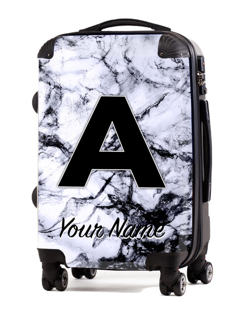 """White Marble - 24"""" Check-in Luggage"""