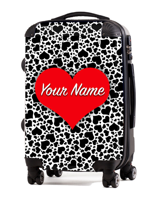 "Hearts - Black - 20"" Carry-On Luggage"