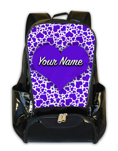 Purple Hearts Personalized Backpack