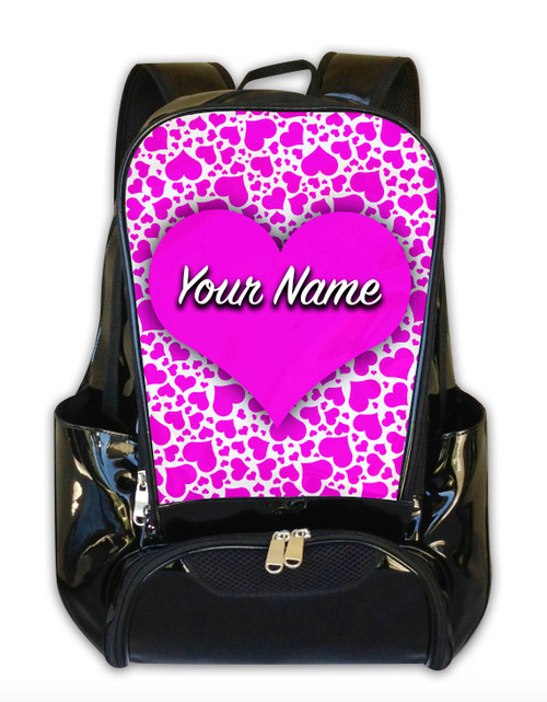 Pink Hearts Personalized Backpack