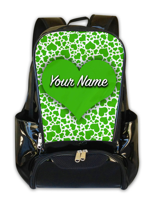 Green Hearts Personalized Backpack