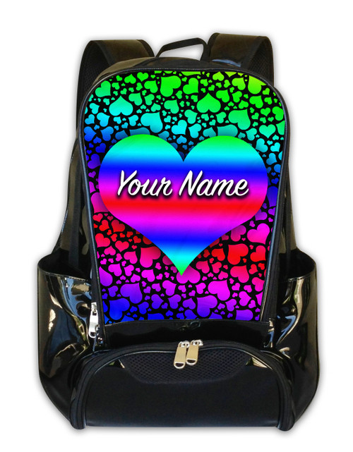 Raindbow Hearts Personalized Backpack