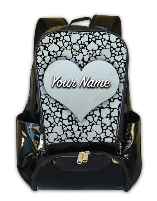 Silver Hearts Personalized Backpack