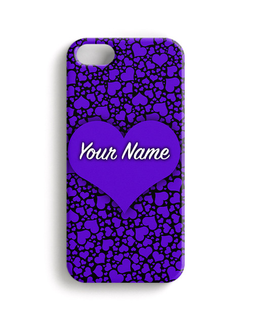 Purple-Black Hearts Phone Case