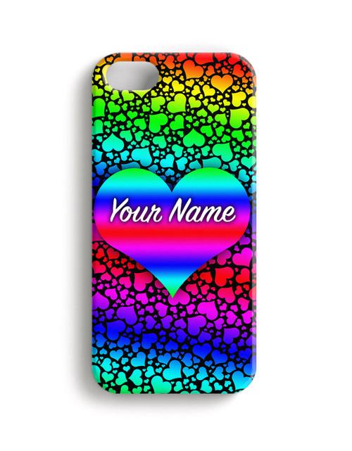 Raindbow Hearts Phone Case
