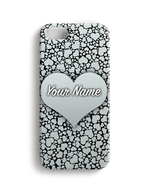Silver Hearts Phone Case