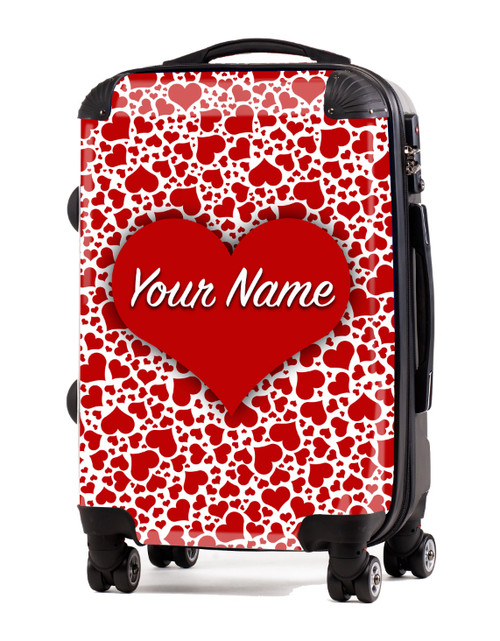 """Red Hearts - 20"""" Carry-On Luggage"""