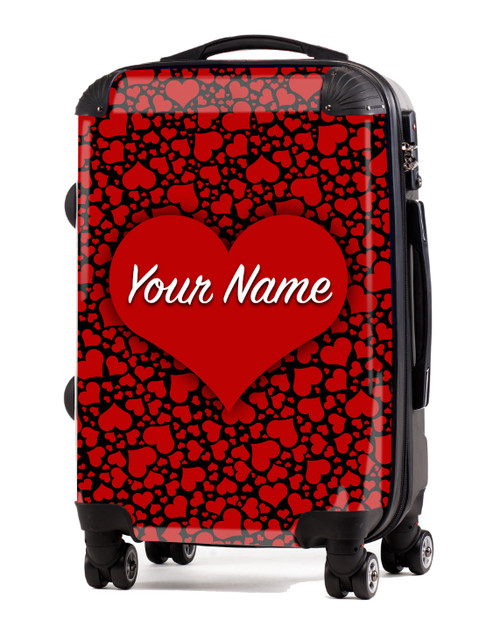 """Red-Black Hearts - 20"""" Carry-On Luggage"""