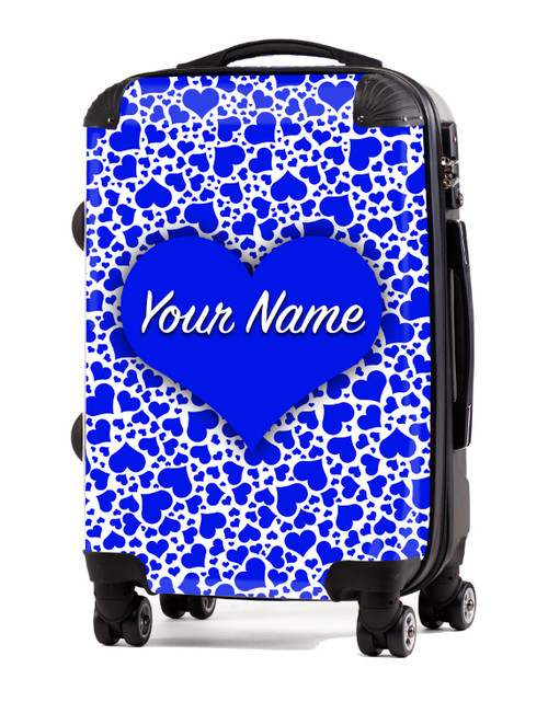 "Blue Hearts - 20"" Carry-On Luggage"