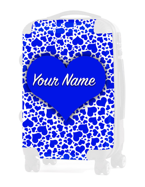 """Blue Hearts - Graphic Insert for 20"""" Carry-on Luggage"""