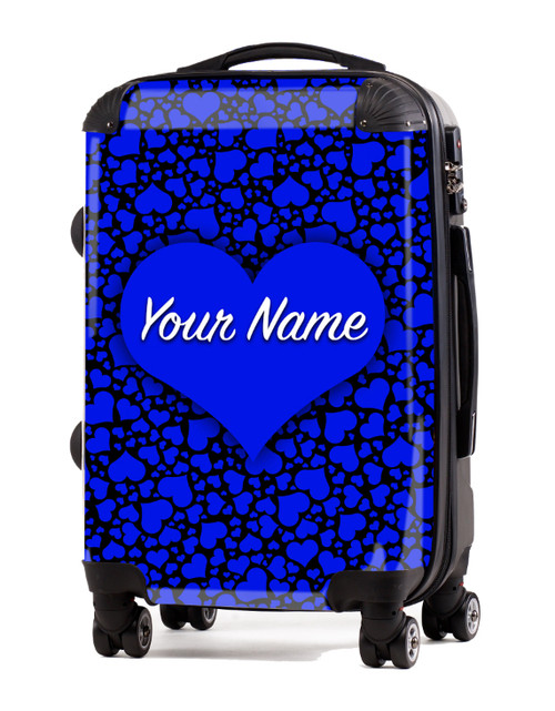 "Blue-Black Hearts - 24"" Check-in Luggage"