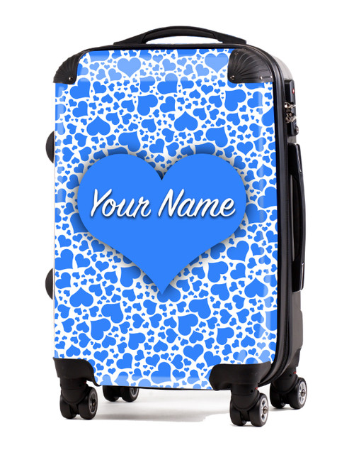 "Baby Blue Hearts - 20"" Carry-On Luggage"