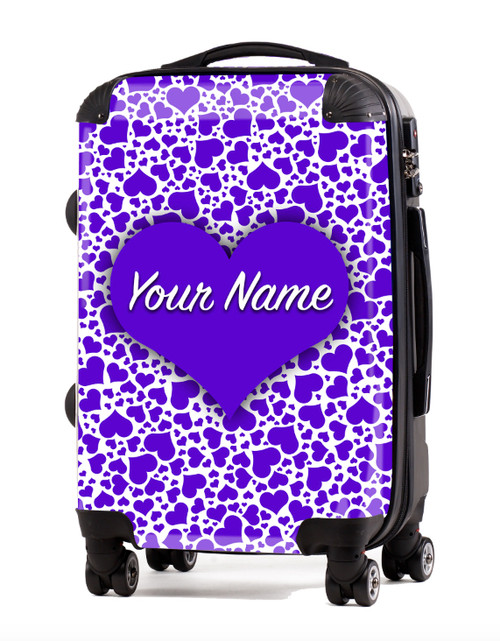 "Purple Hearts - 24"" Check-in Luggage"