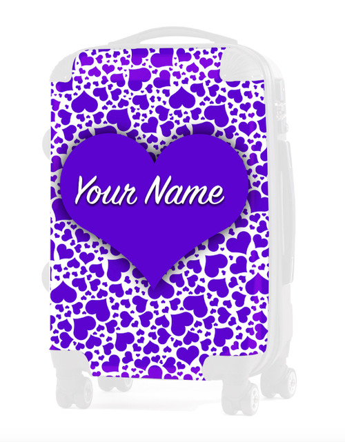 "Purple Hearts - Graphic Insert for 24"" Check-in Luggage"