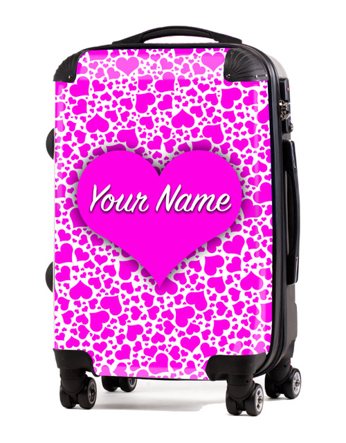 "Pink Hearts - 20"" Carry-On Luggage"