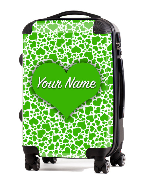 "Green Hearts - 20"" Carry-On Luggage"