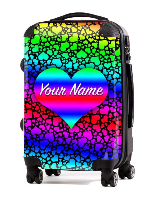 "Rainbow Hearts - 20"" Carry-On Luggage"