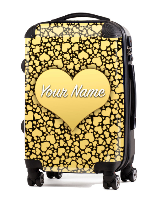 "Gold Hearts - 20"" Carry-On Luggage"