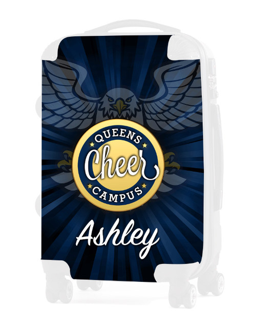 """Queens Campus Cheer - Replacement Graphic Insert - 20"""" Carry-on Luggage"""