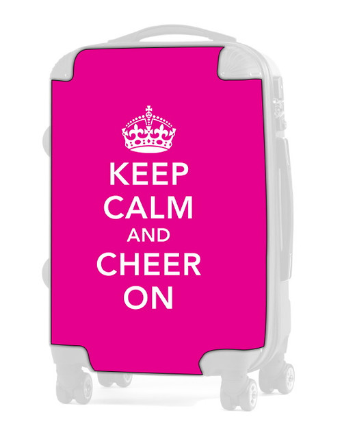 "Keep Calm and Cheer On - PINK 24"" Check In Luggage Insert"
