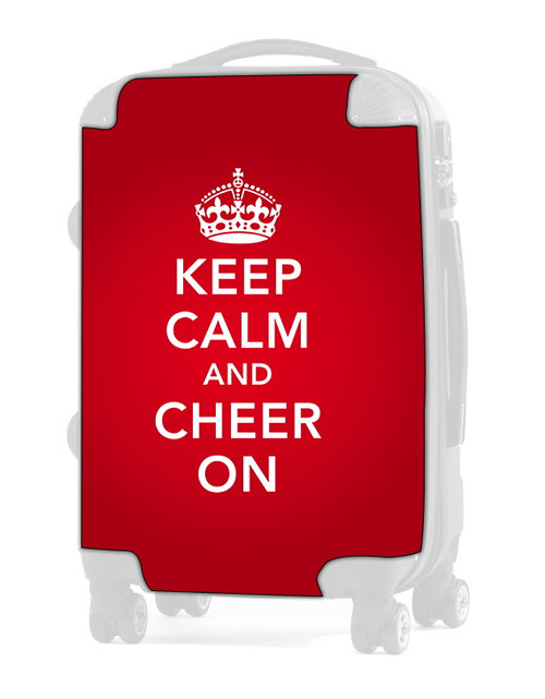 "Keep Calm and Cheer On - RED 24"" Check In Luggage Insert"