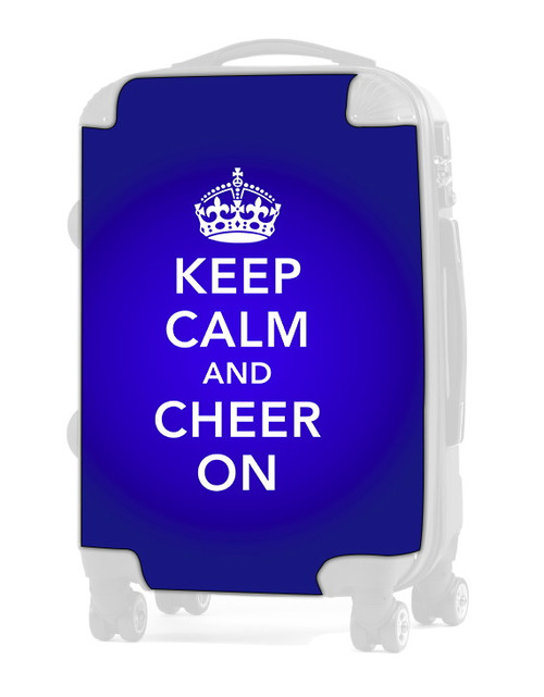 "Keep Calm and Cheer On - BLUE 24"" Check In Luggage Insert"