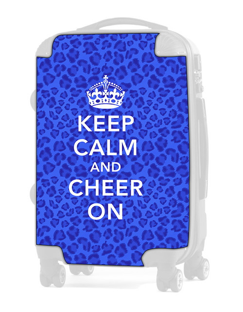 "Keep Calm and Cheer On - CHEETAH BLUE 24"" Check In Luggage Insert"