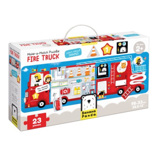 Make-a-Match Puzzle Fire Truck 2+