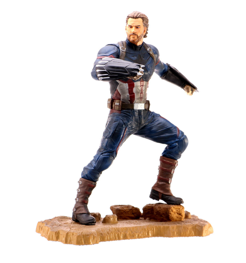 MARVEL GALLERY AVENGERS 3 CAPTAIN AMERICA PVC FIGURE