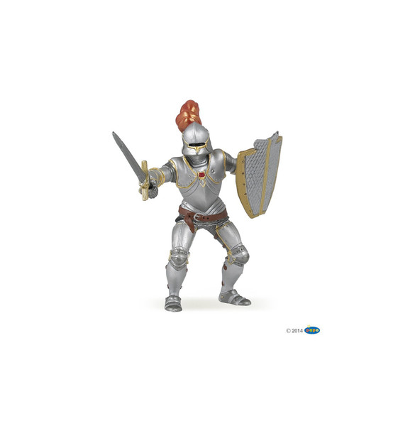 Knight In Armor With Red Feather
