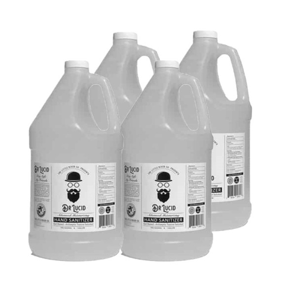 1 Gallon Bottle with Hand Pump, Dr. Lucid Hand Sanitizer Gel, 4 pack - Made in USA