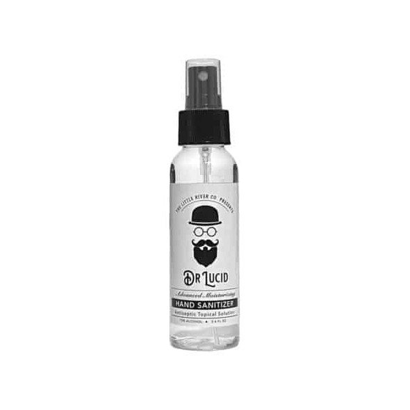 3.4 oz. Dr. Lucid Hand Sanitizer Liquid Bottle with Spray Cap, 1 pack, Made in USA. Free shipping for orders in the United States.