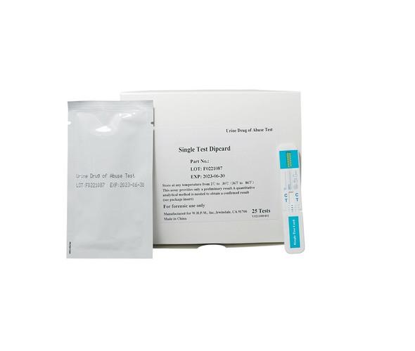 ETG Ethyl Glucuronide, Economy Single Panel Dip Card (Box of 25)