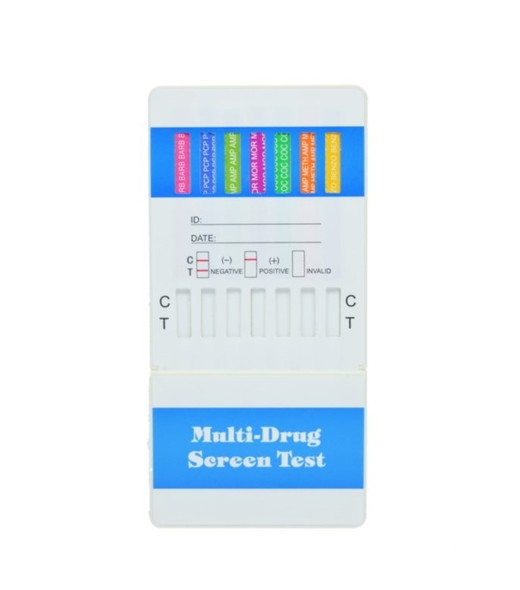 10 Panel UA Economy Dip Card - CLIA Waived, AMP, BAR, BZO, COC, MAMP, MTD, OPI, OXY, PCP, THC