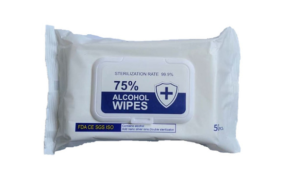 75% Alcohol/Antibacterial Disinfectant Wipes - 50 Sheets/Pack