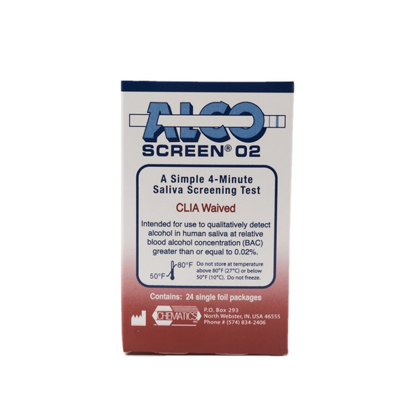 Alco-Screen® 02 CLIA Waived Saliva Alcohol Test, DOT Conforming Product