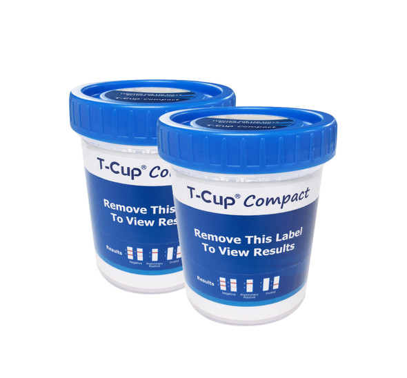 5 Panel UDS Compact Cup (Box of 25) CLIA Waived - AMP, COC, MAMP, OPI, THC