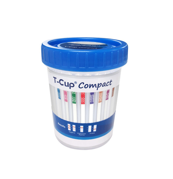 10 Panel UDS Compact Cup (Box of 25) CLIA Waived - AMP, BUP, BZO, COC, MAMP, MDMA, OPI300, MTD, OXY, THC