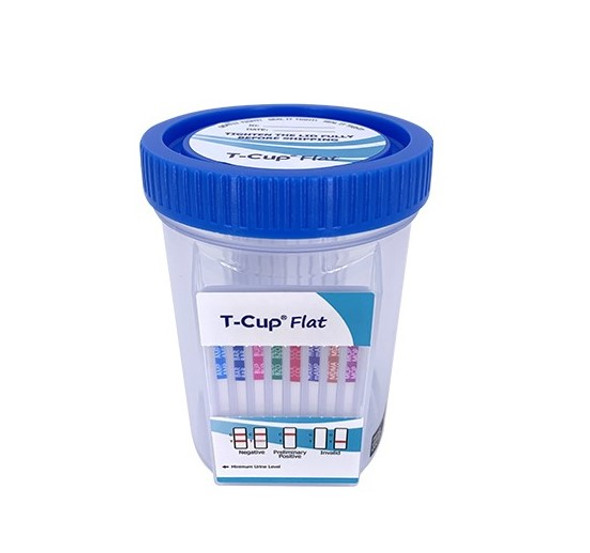 12 Panel UDS Flat Cup (Box of 25) CLIA Waived - AMP, BAR, BUP, BZO, COC, MAMP, MDMA, OPI300, MTD, OXY, PCP, THC
