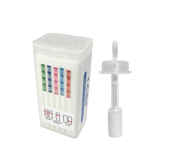 6 Panel T-Cube (Box of 25) - AMP, BAR, COC, OPI, PCP, THC