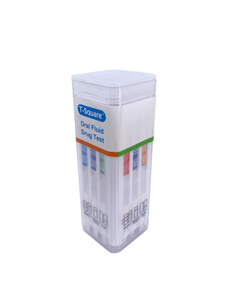 12 Panel T-Square with Alcohol (Box of 25) - AMP, BAR, BUP, BZO, COC, MAMP, MTD, OPI, OXY, PCP, THC, ALC