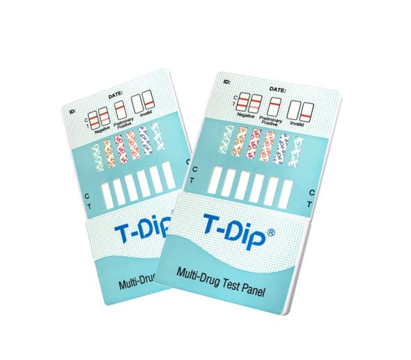 10 Panel UDS T-Dip Card (Box of 25); CLIA Waived - AMP, BAR, BZO, COC, MAMP, MTD, OPI, PCP, TCA, THC