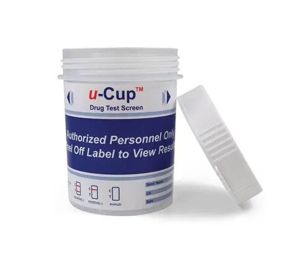 12 Panel UDS U-Cup with AD (Box of 25); CLIA Waived - AMP, BAR, BUP, BZO, COC, MAMP, MDMA, MTD, OPI300, OXY, PCP, THC, PH-CR-SG