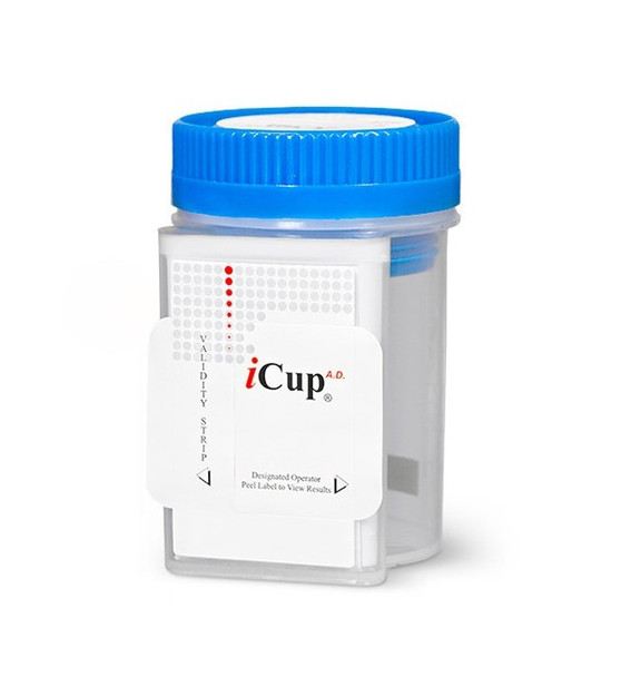 11 Panel iCup with Adulterants, CLIA Waived - AMP, BAR, BZO, COC, MAMP, MTD, OPI, OXY, PCP, PPX, THC (CR-OX-PH)
